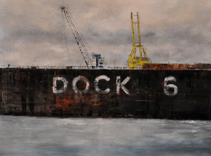 Dock 6, 70 cm x 90 cm, Öl auf Leinwand, 2011, VERK.
