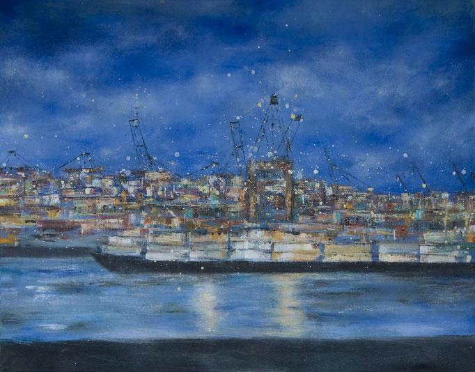 Blaue Stunde, 110 x 140 cm  Öl auf Leinwand, 2009