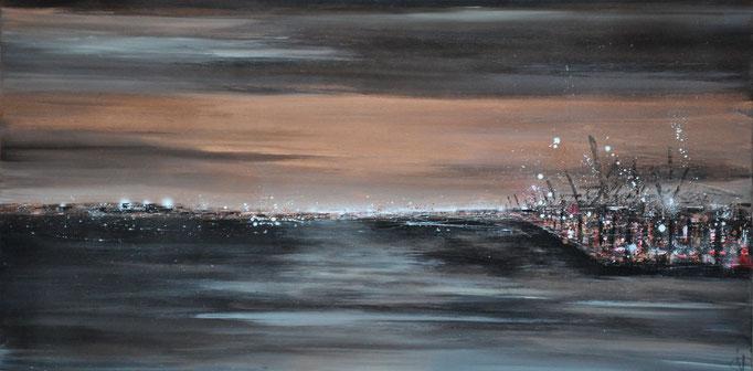 Wolkenspiel, 160 cm x 80 cm, Öl auf Leinwand, 2014