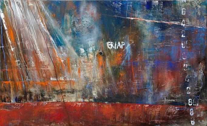 Wasserspuren II, 180 cm x 140 cm, Öl auf Leinwand, 2012