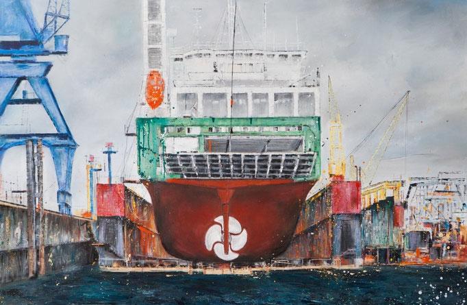 Dock II, 160 x 107 cm, Öl auf Leinwand, 2010