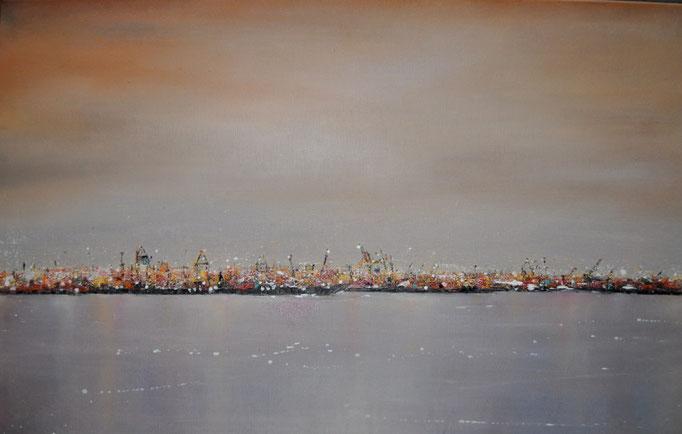 Lichterferne II, 50 cm x 30 cm, Öl auf Leinwand, 2011