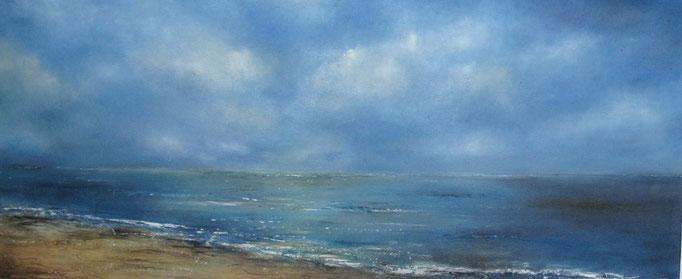 Fenser zum Meer III 50 cm x 120 cm Öl auf Leinwand 2009