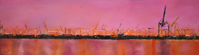 Pink Lady, 200 cm x 50 cm, Öl auf Leinwand, 2011