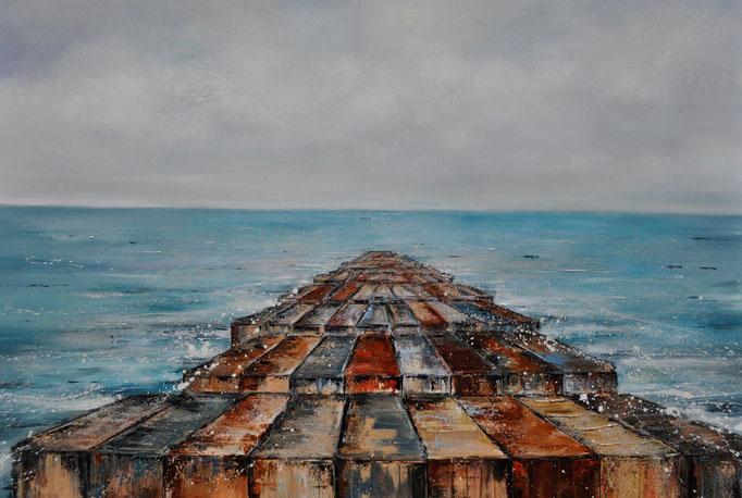 Du bist mein Land II, 140 cm x 120 cm, Öl auf Leinwand, 2011, VERK.