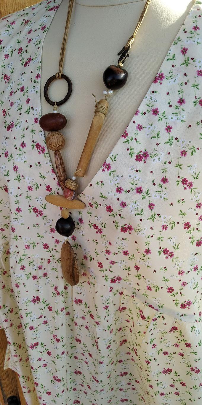 blouse col en V