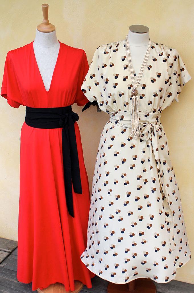 robe en soie et robe jersey