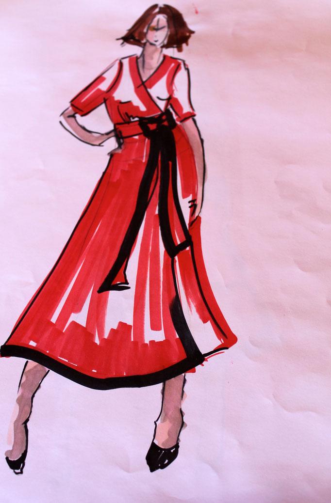 robe croisé