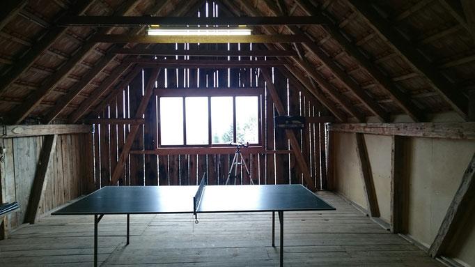 Tenne mit Tischtennis Tisch