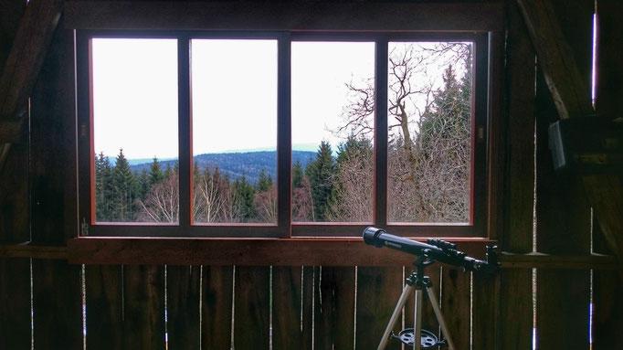 Tenne Panoramafenster mit Sternrohr