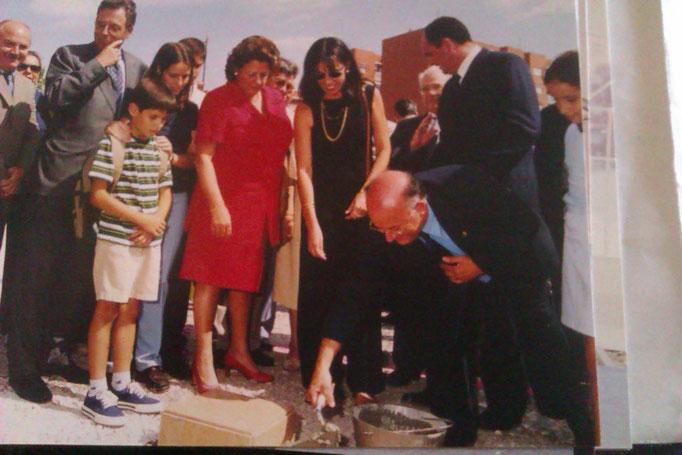 """Primera piedra del Conservatorio """"Jose Iturbi"""", junto a la alcaldesa de Valencia"""