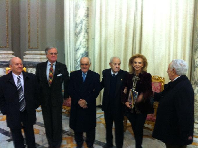 Con M. Beneyto, el decano y otros académicos de la RACV