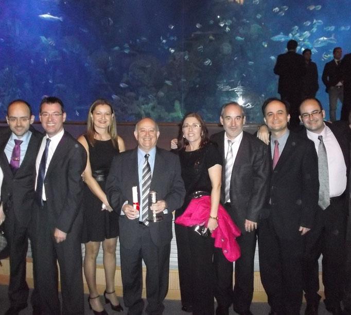 """Con algunos profesores del Conservatorio, Premio """"Valencianos en la onda"""""""