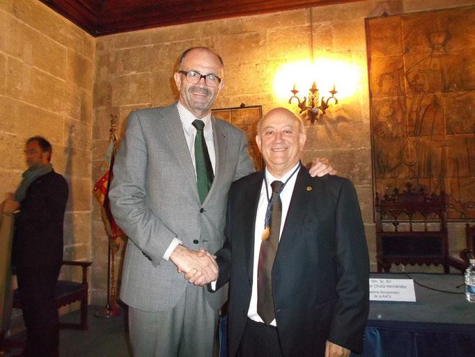 Con el Concejal de Educación, D.Emilio del Toro