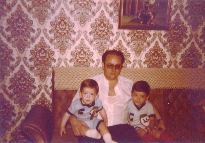 Con sus hijos Salva (que en paz descanse) y Ernesto