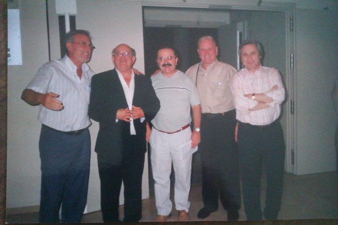 Con B. Sanchís, J. Mogino, Miquel y R. Forés