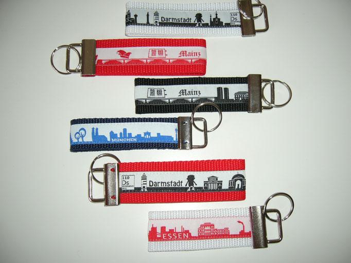 Schlüsselanhänger Skyline Deutsche Städte