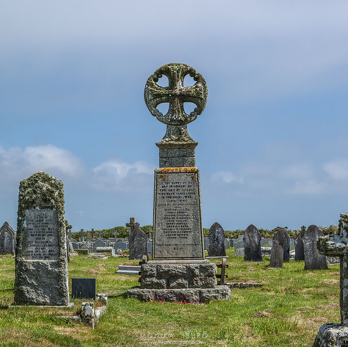 Sennen - Friedhof mit keltischen Grabsteinen