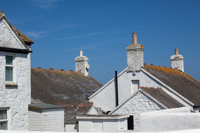 Weiß gekalkt, die Dächer von Lands End
