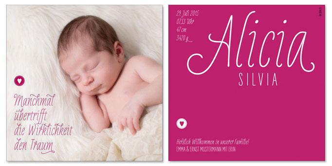 Alicia Sivia: 2-seitig, 130×130 mm   Foto: © Nicole Ruffner-Racheter, www.babyaugenblick.ch
