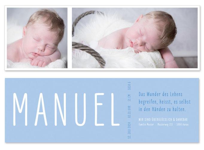 Manuel: Leporello, offen: 435×145 mm, geschlossen: 145×145 mm   Foto: © Nicole Ruffner-Racheter, www.babyaugenblick.ch