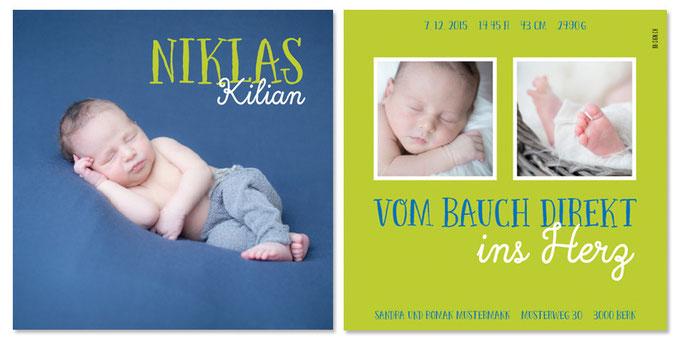 Niklas Kilian: 2-seitig, 130×130 mm   Foto: © Nicole Ruffner-Racheter, www.babyaugenblick.ch