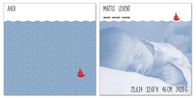 Mattis: 2-seitig, 130×130 mm   Foto: © Bettina Berrut   Passender Kreativstempel erhältlich