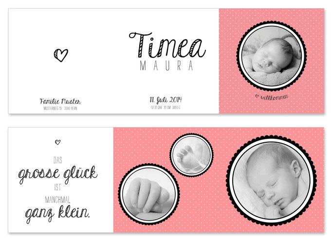 Timea: Leporello, offen: 435×145 mm, geschlossen: 145×145 mm   Foto: © Nicole Ruffner-Racheter, www.babyaugenblick.ch