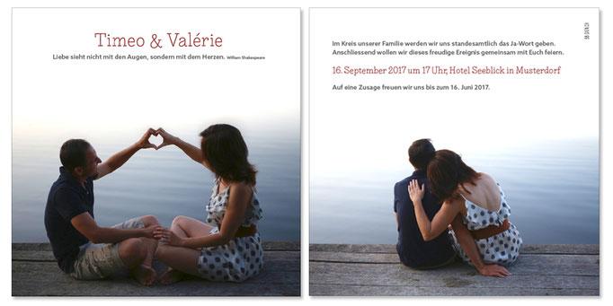 Timeo & Valérie: 2-seitig, 130×130 mm | Foto: © Karin Merz, www.karinmerz.com