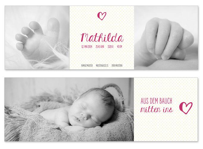 Mathilda: Leporello, offen: 435×145 mm, geschlossen: 145×145 mm   Foto: © Nicole Ruffner-Racheter, www.babyaugenblick.ch