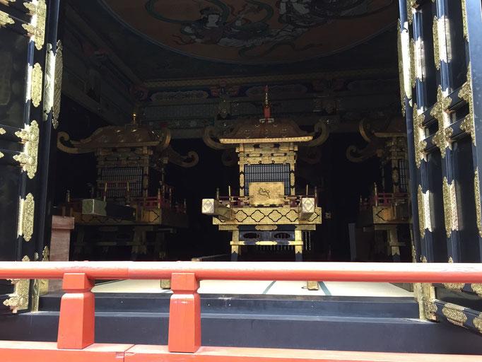 Tokugawa Ieyasu's Palanquin-center, Minamoto Yoritomo's and Toyotomi Hideyoshi