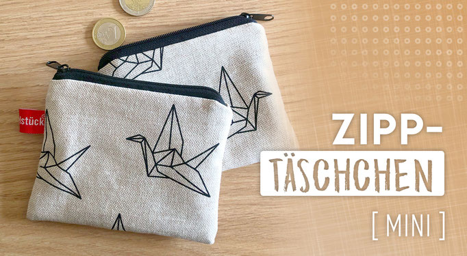 Brieftasche, klein, praktisch, Münzen, Lippenstift, Handmade in Klagenfurt