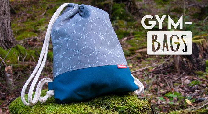 Gymbag, Turnbeutel, Umhängetasche, die Alternative zum Plastiksackerl. Genäht von Veinzelstück.
