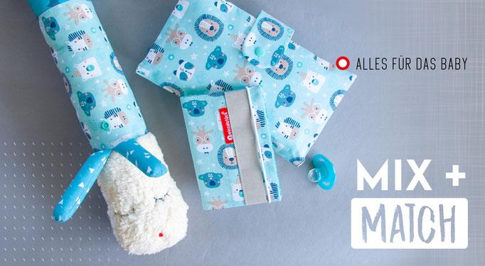 Windeltasche, Babytaschenset, Windeltaschetogo, unterwegs mit Baby, handgemacht, Veinzelstück, Mukipass, Puckschnecke