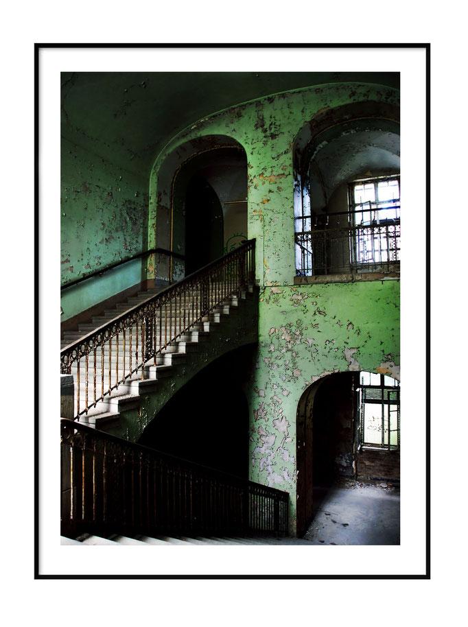 Grünes Treppenhaus