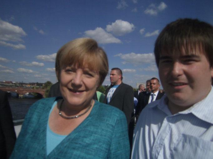 Angela Merkel Bundeskanzlerin und Patrick Oehm
