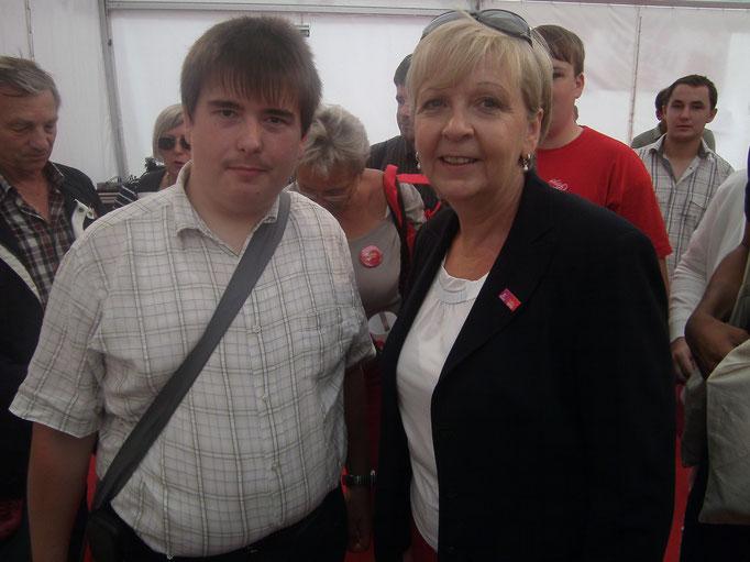 Patrick Oehm und Hannelore Kraft SPD Ministerpräsidentin  Nordrhein-Westfalen