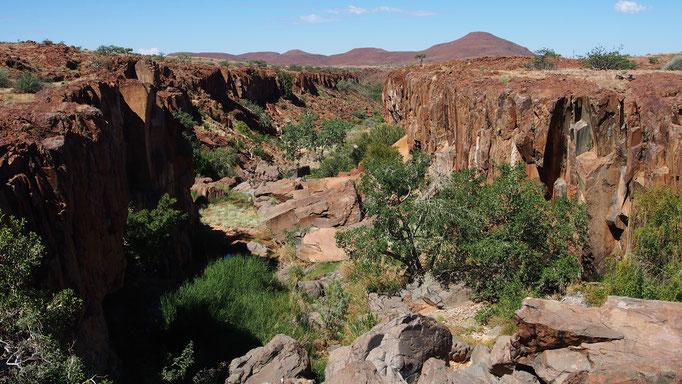 Plateau d'Etendeka ; concession de Palmwag ; Namibie