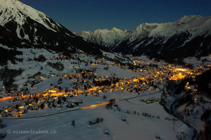 Klosters mit Silvrettagruppe