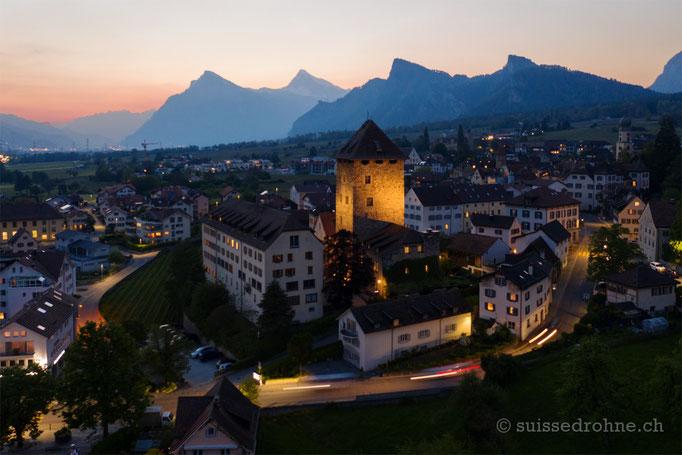 Maienfeld mit Schloss Brandis