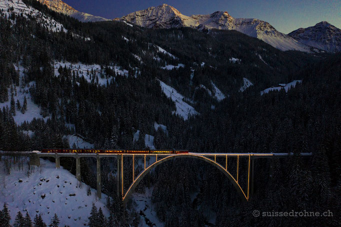 Langwiesner Viadukt Rhätische Bahn