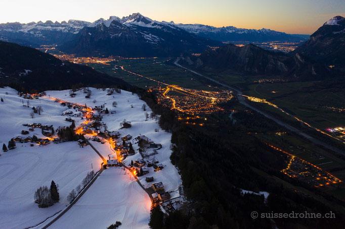 St. Margrethenberg mit Bad Ragaz und Rheintal