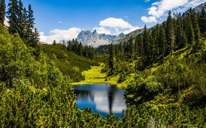 Schwarzsee im Silbertal - Montafon