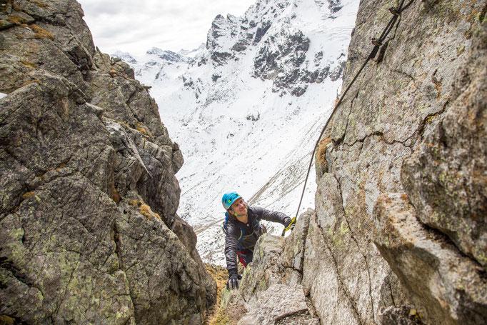 Berge im Licht: Ebike und Klettersteigtour auf die Saarbrücker Hütte und den Kleinlitzner - 13
