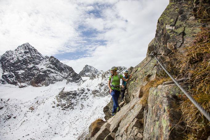 Berge im Licht: Ebike und Klettersteigtour auf die Saarbrücker Hütte und den Kleinlitzner - 9