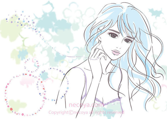 女性イラスト original「:fairy in spring」