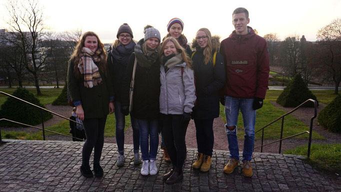 Besuch der Praktikanten aus Bergen und Riga  in Uppsala: Miriam Schmelz, Magdalena Kollbeck, Elisabeth Schwake, Pia Wittek, Greta Hartmann, Josephine Metasch und Tobias Hövener