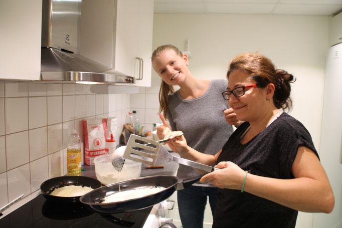 Kochen beim Caritas Mötesplats