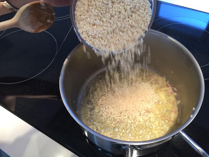 Reis glasig rühren