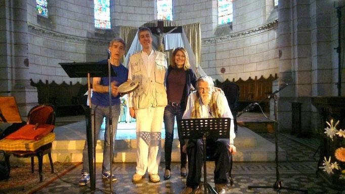 """Michael Lonsdale à Nontron - répétition du concert """"Eaux vives""""- Amis de l'orgue de Nontron - Juin 2015"""